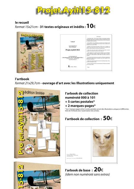 prix de vente des créations du projet ayiti 15-812